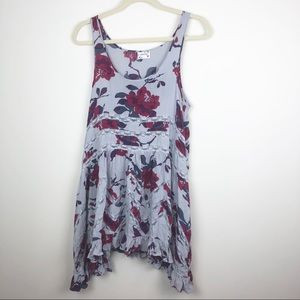 Free People Viole and Lace Trapeze Slip Dress S